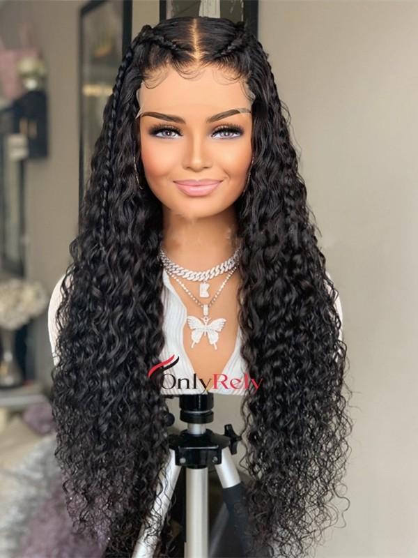 HD150--brazilian virgin deep curly 5x5 HD lace closure wig