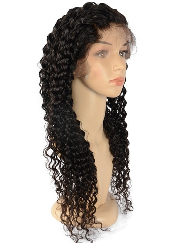 LF040--Brazilian Virgin human hair wet wave 13x4 lace front Wig