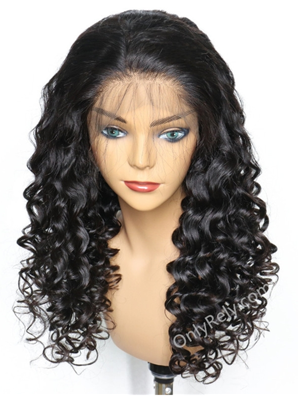 Spanish Wave Brazilian Virgin pre-plucked hairline 360 lace Wig--【AC088】