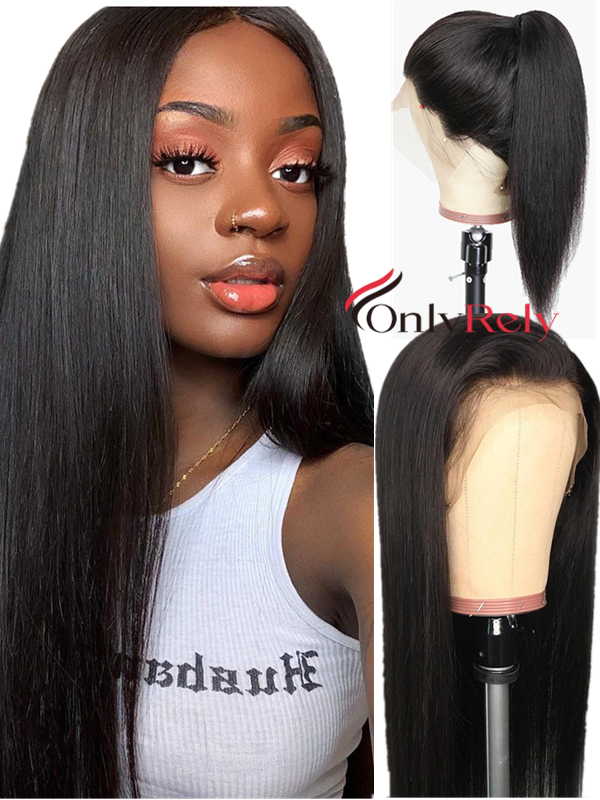 silk straight brazilian virgin Pre-Plucked Hairline 360 lace Wig --【AC160】