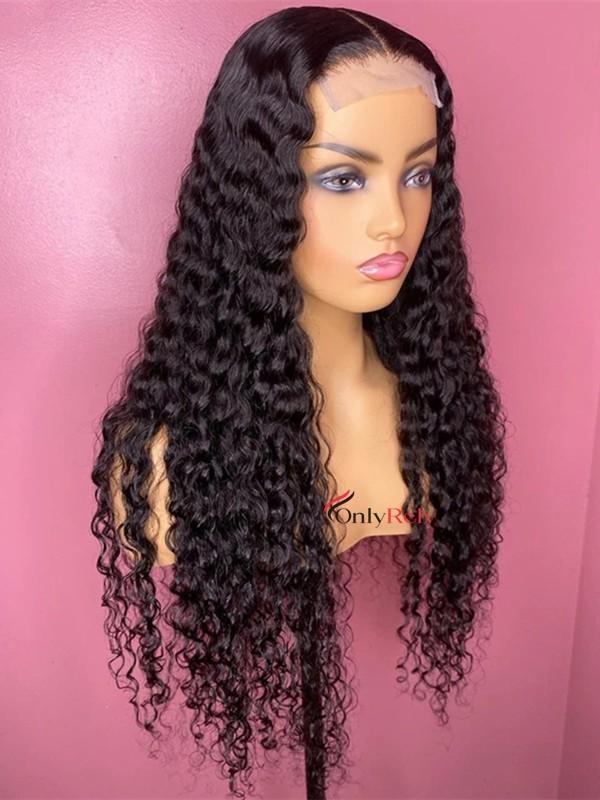 HD121--brazilian virgin water wave 5x5 HD lace closure wig