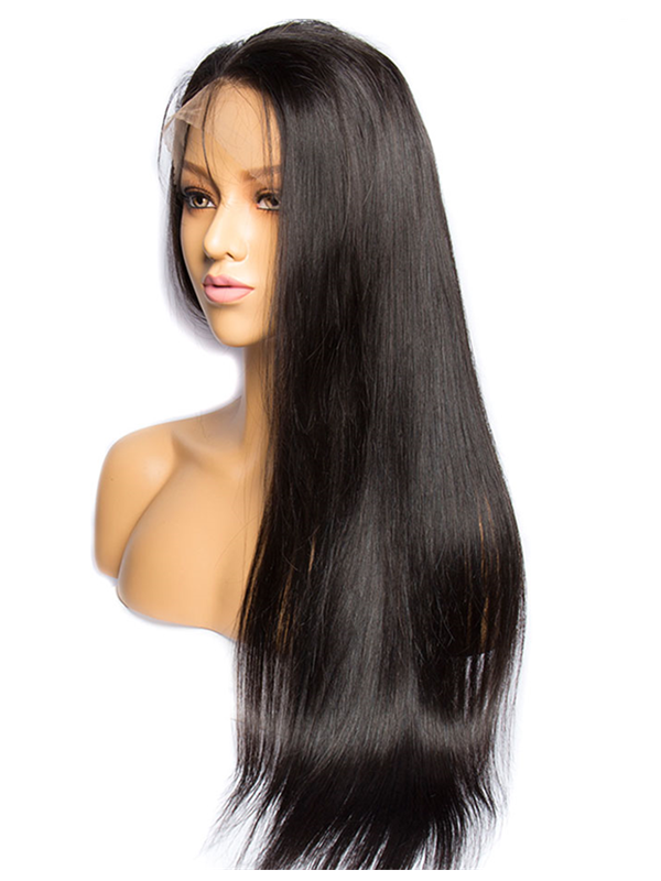 HD lace 150% density brazilian virgin pre-plucked hairline 6 inch lace front Wig--【LF060】