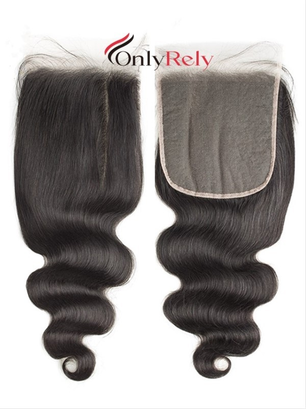 HD001--HD invisible Lace Closure Brazilian Virgin With Baby Hair