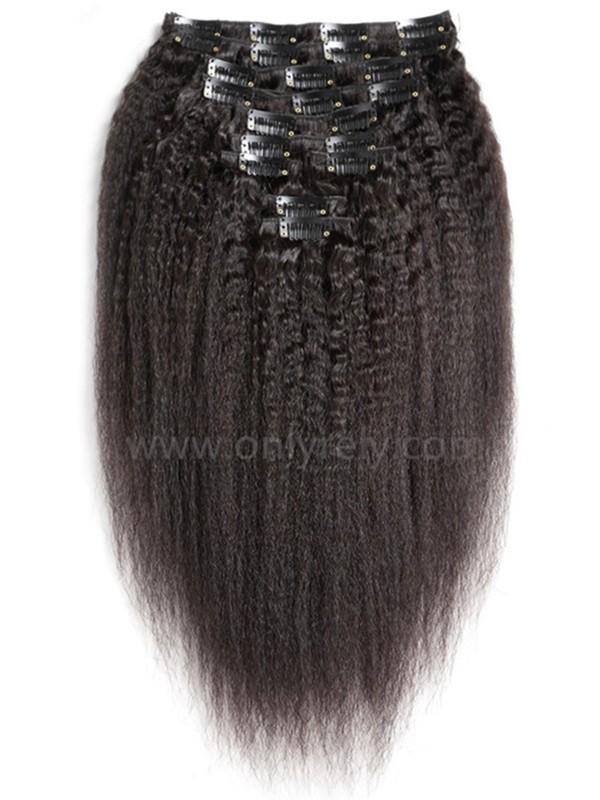 CW101--brazilian virgin human hair Clips-in hair wefts