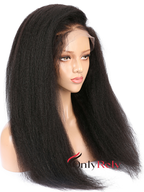 AC080--Italian yaki brazilian virgin bleached knots for black women 360 wig