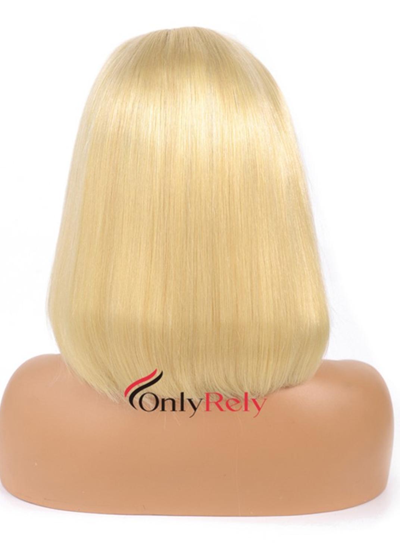 BOB613--color 613 blonde bob cut brazilian virgin lace front wig