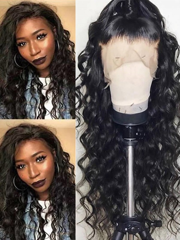 50% off On Sale--beyonce wave Brazilian Virgin pre-plucked 360 lace Wig--【AC055】