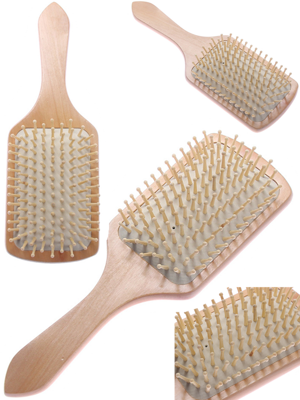 Hair Care Wooden Antistatic Cushion Comb