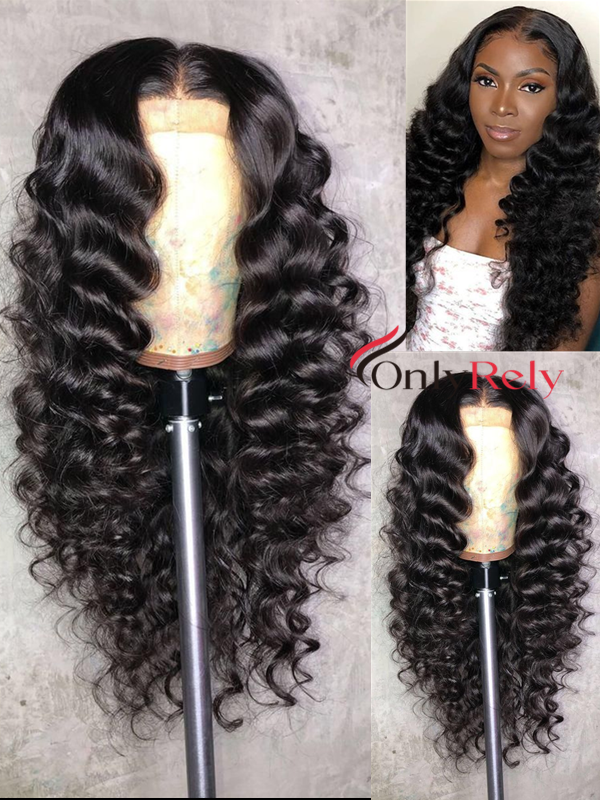 AC088--Spanish Wave Brazilian Virgin pre-plucked hairline 360 Wig