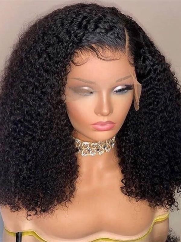 AC999--afro kinky curl brazilian virgin human hair preplucked 360 wig