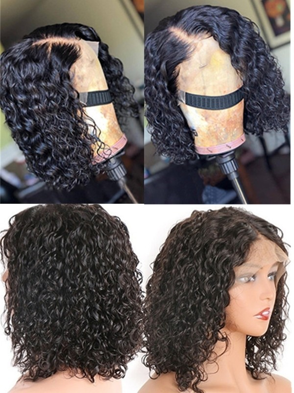 bob curl brazilian virgin pre-plucked hairline 360 lace wig--【BOB011】