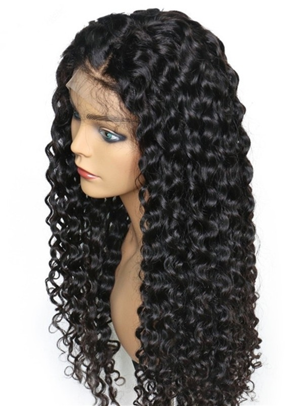 Brazilian Virgin 8mm curly bleached knots glueless full lace Wig--【BW088】