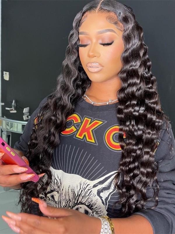 AC055--beyonce wave Brazilian Virgin human hair pre-plucked 360 Wig