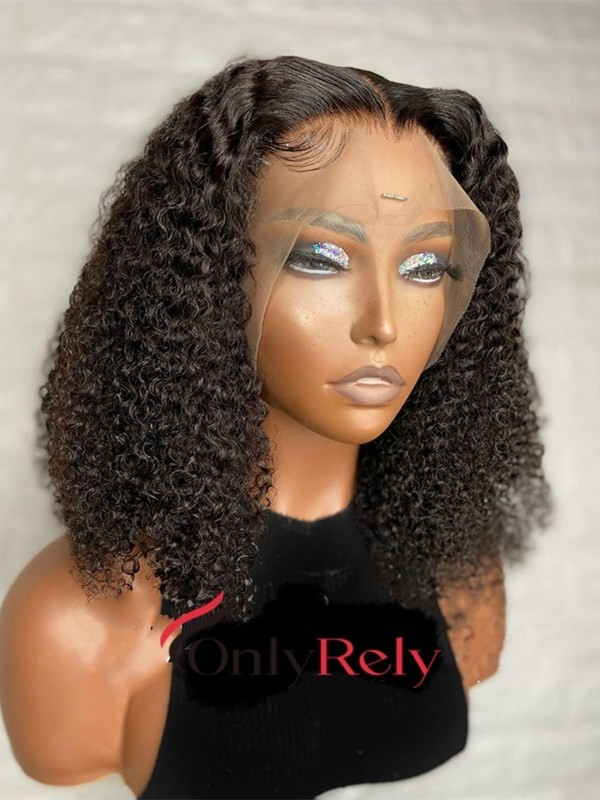 AC058--exotic curly brazilian virgin preplucked 360 wig