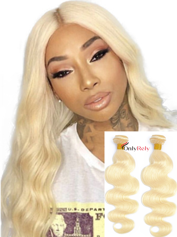 WF203--2 Bundles Color 613 Blonde 10A Virgin Hair Wefts In Stock