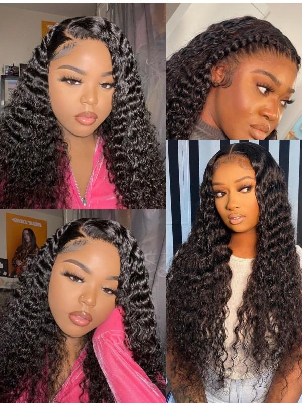AC150--deep curly brazilian virgin human hair 360 wig