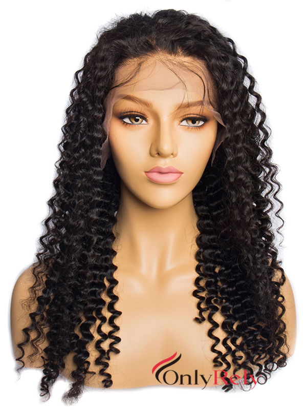 LF612--brazilian virgin spanish curl glueless lace front wig