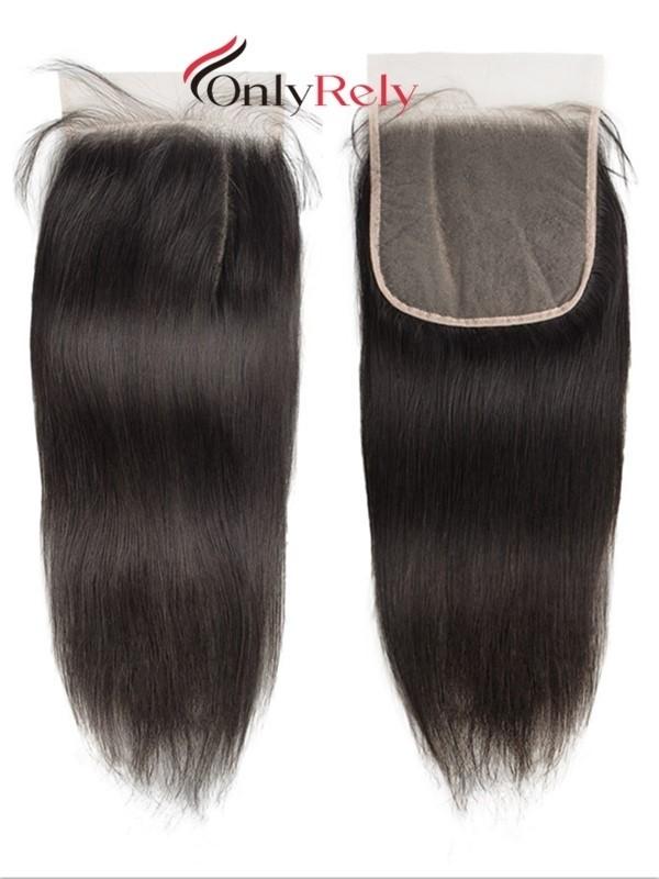 HDC002--4x4 Invisible HD Lace Closure Brazilian Virgin Human Hair