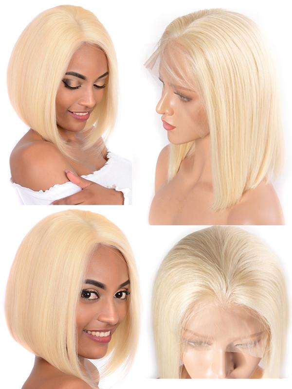 color 613 blonde bob cut brazilian virgin lace front wig 【BOB613】