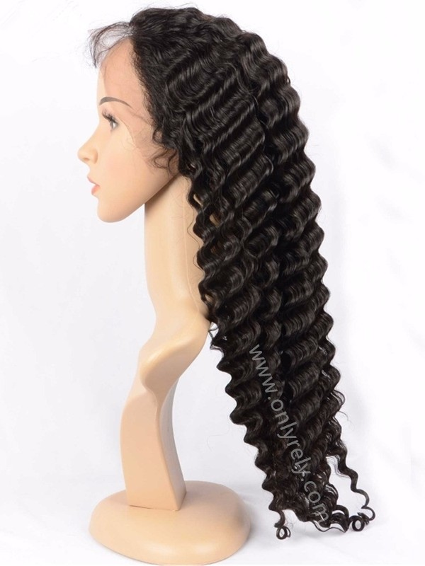natural wave brazilian virgin pre-plucked 360 lace wig--【AC067】