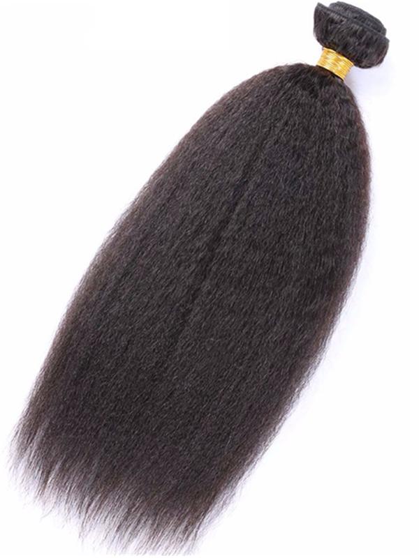 WF104--brazilian virgin kinky straight hair extensions weft