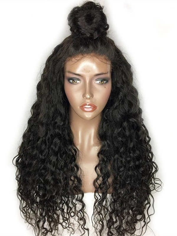 AC040--Wet Wave brazilian virgin human hair 360 wig