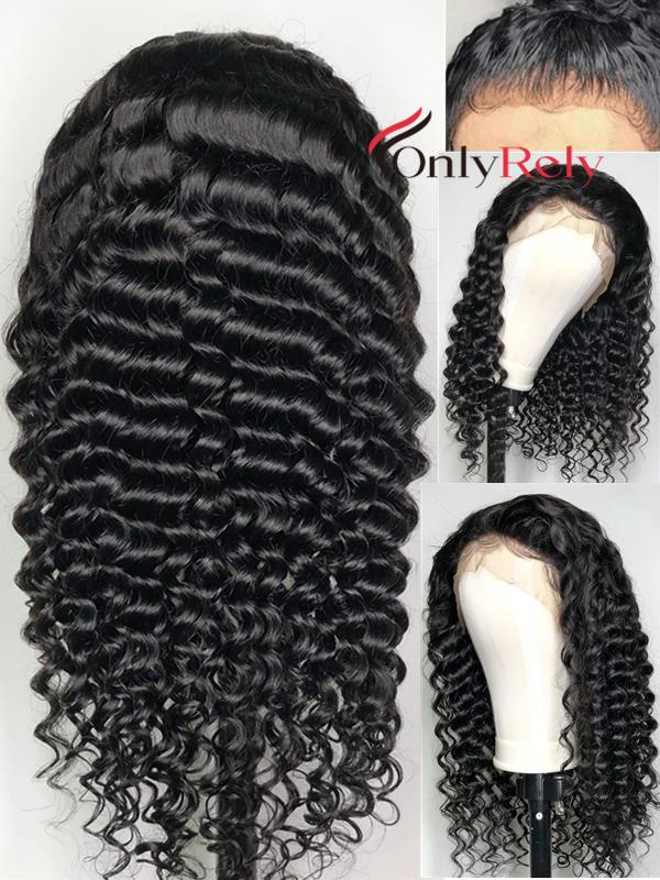 AC060--loose curly preplucked Brazilian Virgin human hair 360 Wig
