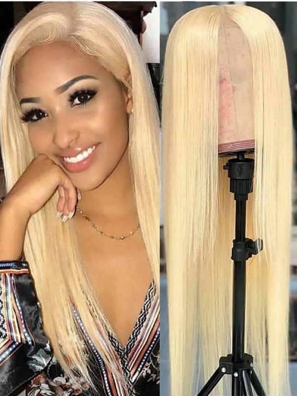 Brazilian Virgin  pre-plucked natural hairline 613 Color Full Lace Wig--【AC613】