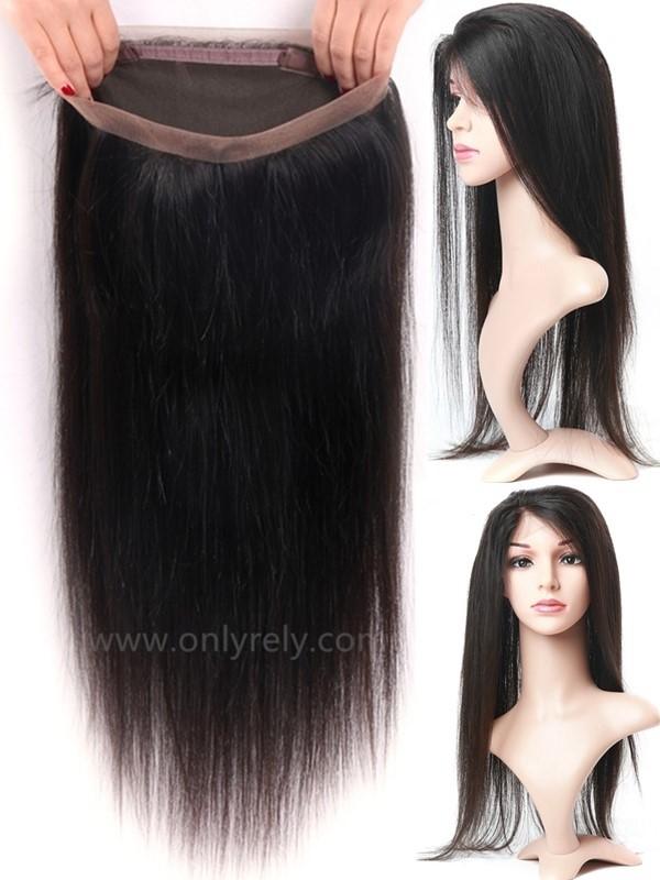 LC360--silk straight brazilian virgin human hair 360 frontal