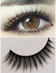 3 Pairs 3D Long False Eyelashes Makeup Natural Fake Thick Black Eye Lashes S017