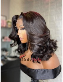 HD045--HD lace long wave Brazilian virgin 5x5 HD lace closure wig