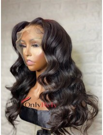 OR371--ocean wave Brazilian virgin preplucked 370 wig