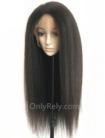 Italian yaki brazilian virgin bleached knots for black women 360 lace wig--【AC080】