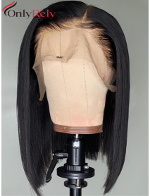 left part bob style virgin hair pre-plucked hairline 360 lace Wig--【BOB003】