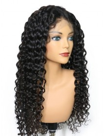 Brazilian Virgin 8mm curly full lace Wig--【BW088】