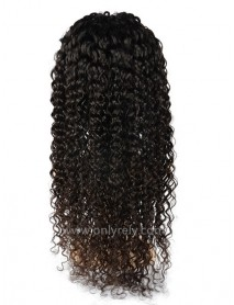 Brazilian Virgin Deep wave bleached knots glueless Full Lace Wig--【BW067】
