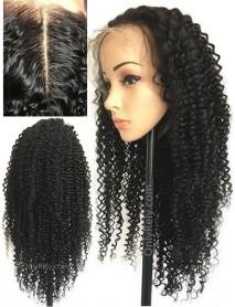 kinky curly Brazilian Virgin pre-plucked 360 lace Wig--【AC066】