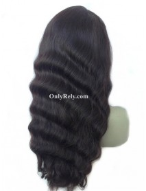 Malaysian virgin natural wave 150% density glueless full lace wig--【NW402】