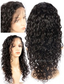 curly wavy Brazilian Virgin bleached knots 360 lacce Wig--【AC099】