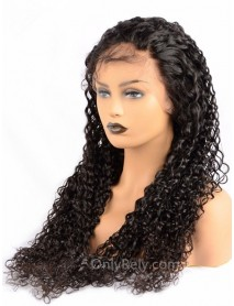 Brazilian virgin Wet Wave natural color human hair full lace wig--【BW040】