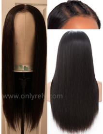 LF069--Brazilian Virgin human hair silk straight glueless Lace Front Wig