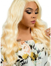 3 bundles color 613 blonde 10A virgin hair wefts in stock--【WF613】