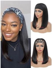 HB067--headband blunt cut bob brazilian virgin human hair wigs