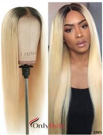 LF0613--brazilian virgin human hair 1b/ 613 preplucked 13x4 lace front wig