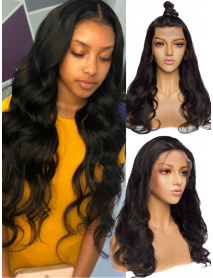 BW130--brazilian virgin Body Wave human hair full lace wig