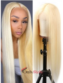 LF613--180% density Brazilian Virgin pre-plucked 613 Color 13x6 lace front Wig