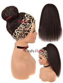 HB080--headband kinky straight brazilian virgin human hair wigs