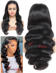 HD130--HD lace Body Wave Brazilian virgin 5x5 HD lace closure wig