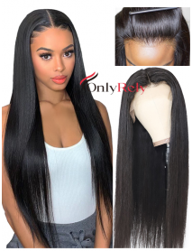 AC888--preplucked hairline Brazilian virgin human hair 370 wig