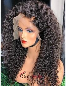 AC072--tight deep curly brazilian virgin human hair 360 wig